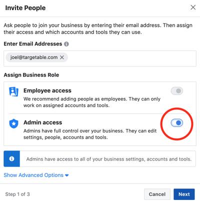 3. Enter Email Address