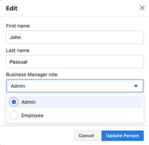 7. Admin update person