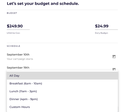 IV-A Create A Campaign - Schedule